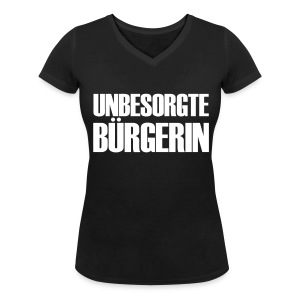 Unbesorgte Bürgerin - Frauen Bio-T-Shirt mit V-Ausschnitt von Stanley & Stella