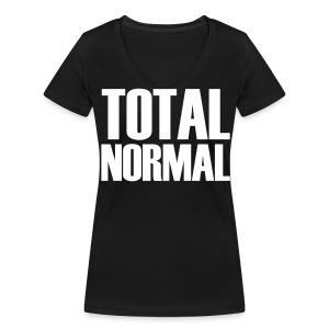 Total normal - Frauen Bio-T-Shirt mit V-Ausschnitt von Stanley & Stella
