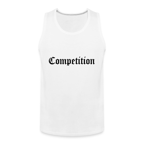 White Competition Tank Top - Men's Premium Tank Top