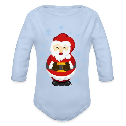 Body Père Noël - Body bébé bio manches longues