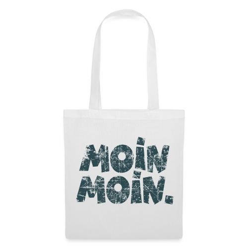 Moin Moin. (Vintage Blau) Stofftasche - Stoffbeutel