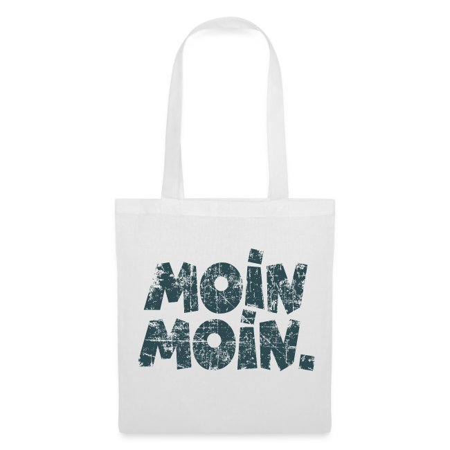 Moin Moin. (Vintage Blau) Stofftasche