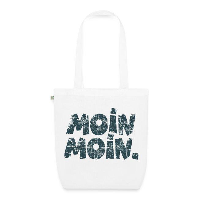 Moin Moin. (Vintage Blau) Bio Stofftasche