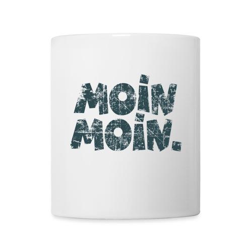 Moin Moin. (Vintage Blau) Tasse - Tasse