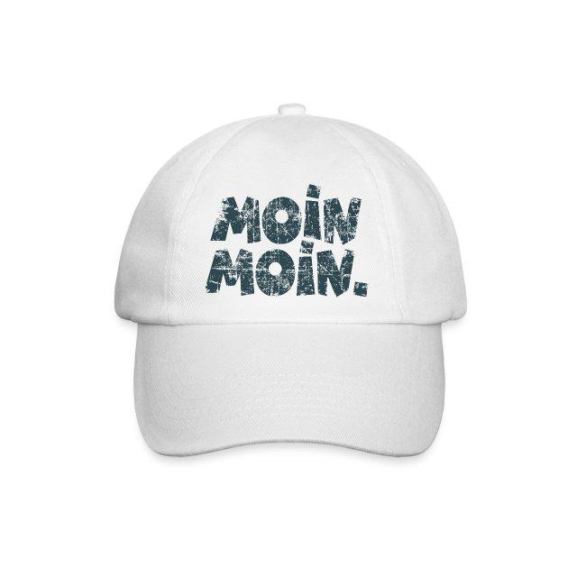 Moin Moin. (Vintage Blau) Baseballkappe