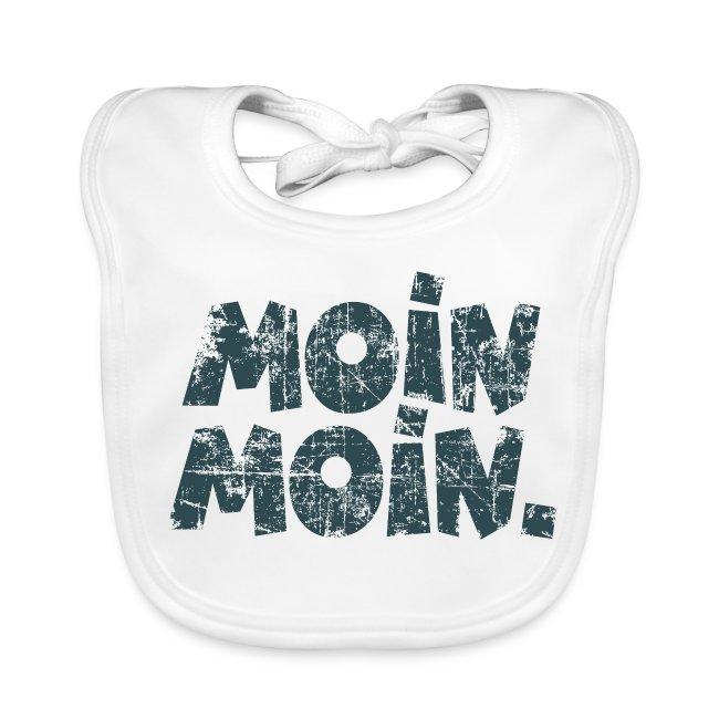 Moin Moin. (Vintage Blau) Babylätzchen