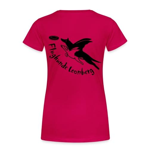 Damen Premiumshirt - Druckfarbe schwarz, Name  - Frauen Premium T-Shirt