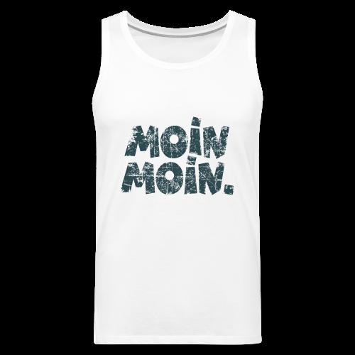 Moin Moin. (Vintage Blau) Tank Top - Männer Premium Tank Top