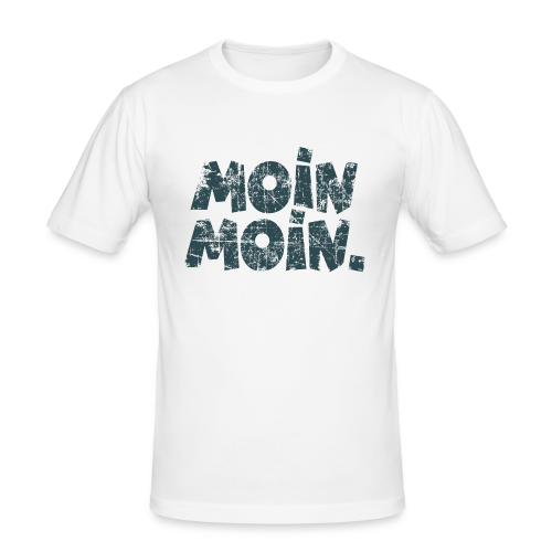 Moin Moin. (Vintage Blau) Slim Fit T-Shirt - Männer Slim Fit T-Shirt