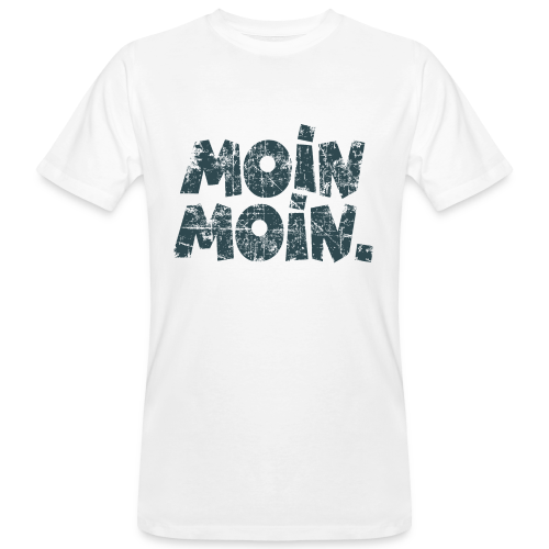 Moin Moin. (Vintage Blau) Bio T-Shirt - Männer Bio-T-Shirt