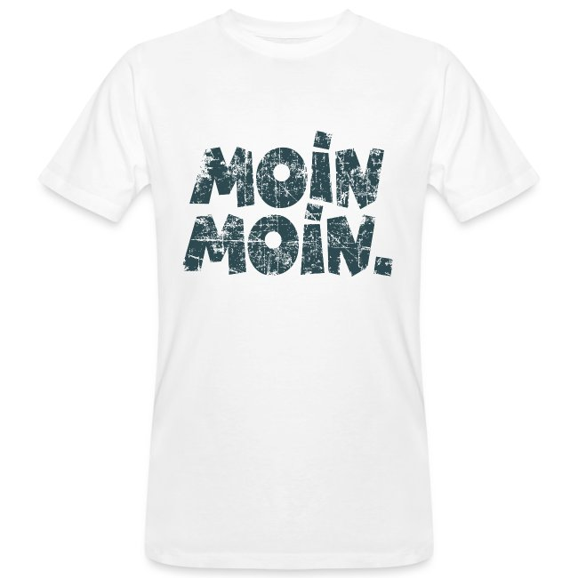 Moin Moin. (Vintage Blau) Bio T-Shirt