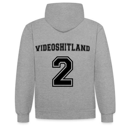 VideoShitLand Hoddie ( Football Style) - Kontrast-Hoodie