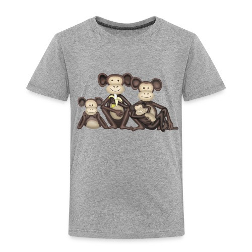 Monkey Family T Shirt - Kids' Premium T-Shirt