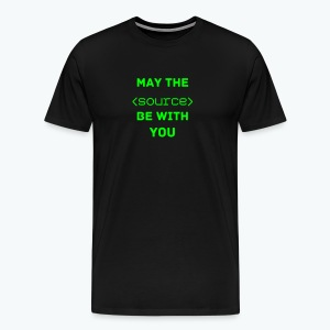 May the Open Source be with you - Männer Premium T-Shirt