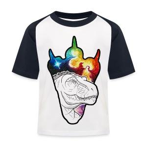 Dinosaur Print - Kids' Baseball T-Shirt
