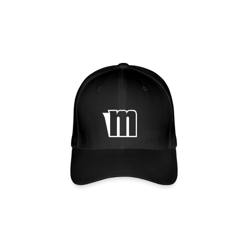 Black Fit Cap With Mahbz Original Logo  - Flexfit Baseball Cap