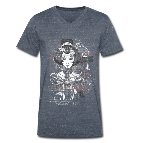 Geisha Men V - Männer Bio-T-Shirt mit V-Ausschnitt von Stanley & Stella