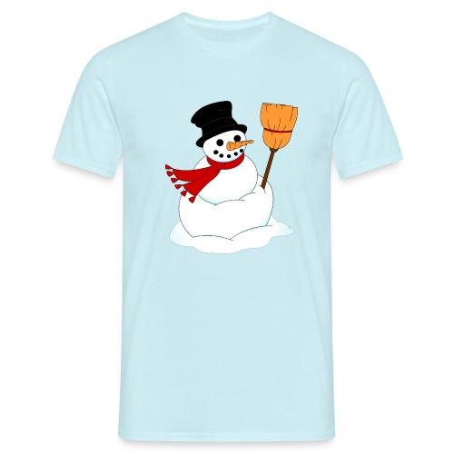 Snemand m. kost - Herre-T-shirt