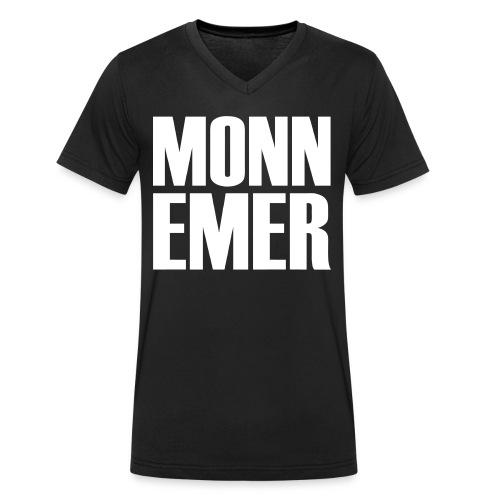 Monnemer - Männer Bio-T-Shirt mit V-Ausschnitt von Stanley & Stella