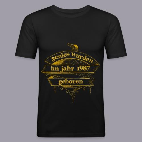 Genies wurden im Jahr 1987 geboren - Männer Slim Fit T-Shirt