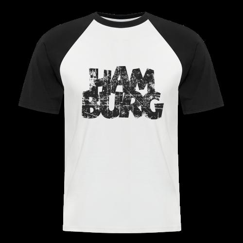 Hamburg (Vintage Schwarz) Baseball T-Shirt - Männer Baseball-T-Shirt