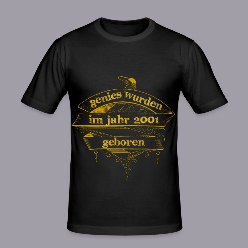 Genies wurden im Jahr 2001 geboren - Männer Slim Fit T-Shirt