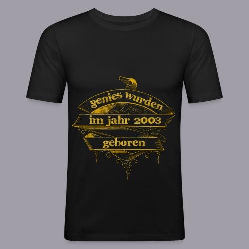 Genies wurden im Jahr 2003 geboren - Männer Slim Fit T-Shirt