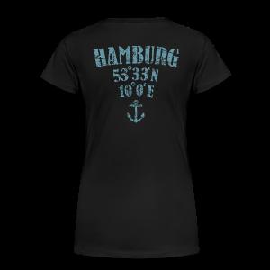 Hamburg Koordinaten Anker (Vintage Hellblau) S-3XL T-Shirt - Frauen Premium T-Shirt