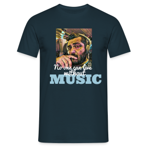 #NoOneCanLiveWithoutMusic - T-shirt Homme