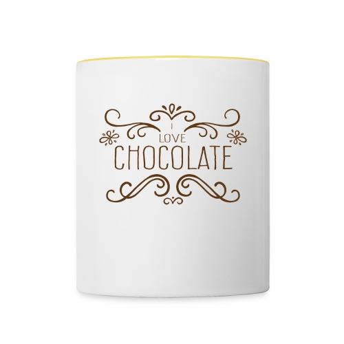 I Love Chocolate Bouteilles et Tasses - Mug contrasté