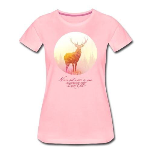 Deer vrouwen premium - Vrouwen Premium T-shirt