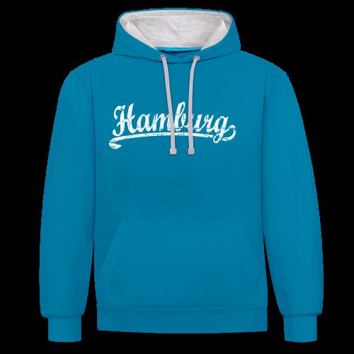 Hamburg Klassik (Vintage Weiß) Kontrast Hoodie - Kontrast-Hoodie