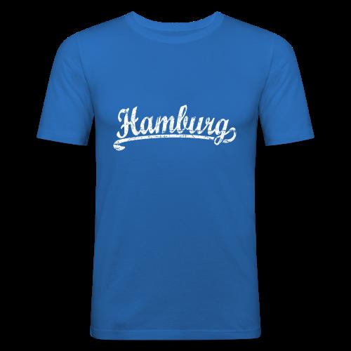 Hamburg Klassik (Vintage Weiß) Bio T-Shirt - Männer Slim Fit T-Shirt