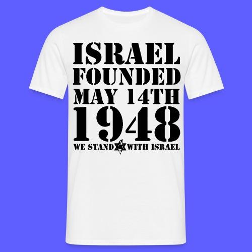 Israel Foundet Shirt - Männer T-Shirt