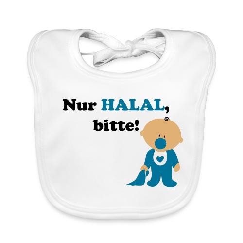 Nur Halal, bitte! Babylätzchen (männlich) - Baby Bio-Lätzchen