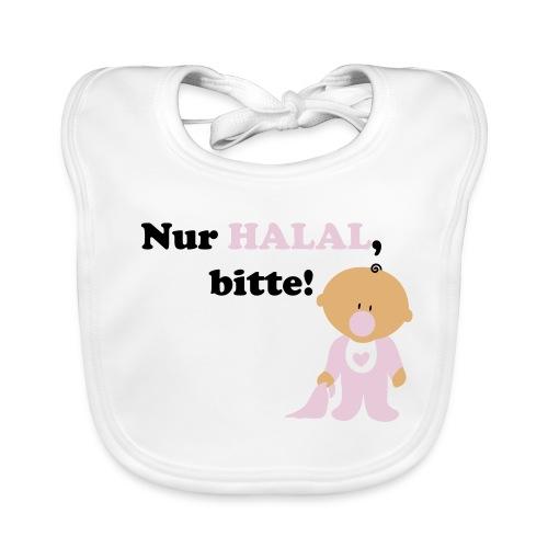 Nur Halal, bitte! Babylätzchen (weiblich) - Baby Bio-Lätzchen