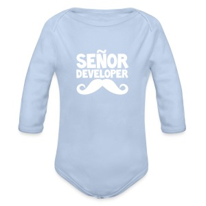 The Señor Junior - Organic Longsleeve Baby Bodysuit