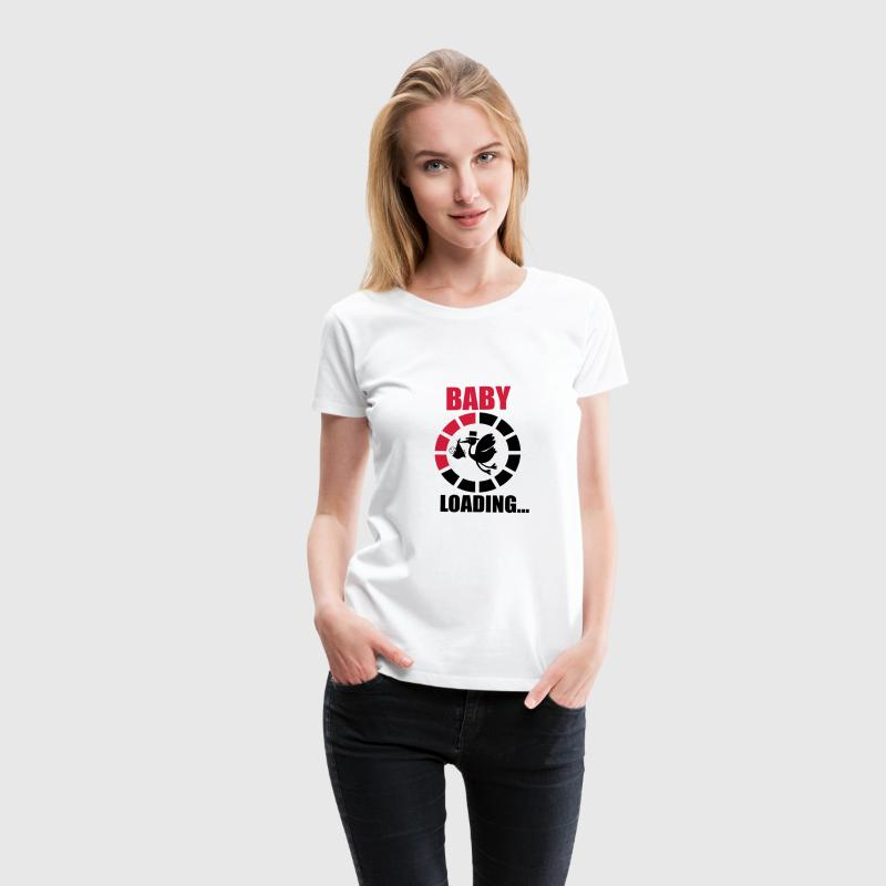 T-shirt Funny Pregnancy - Baby loading - Women's Premium T-Shirt