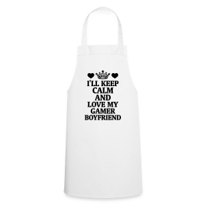 I STAY QUIET U LOVE MY DOG FRIEND!  Aprons - Cooking Apron