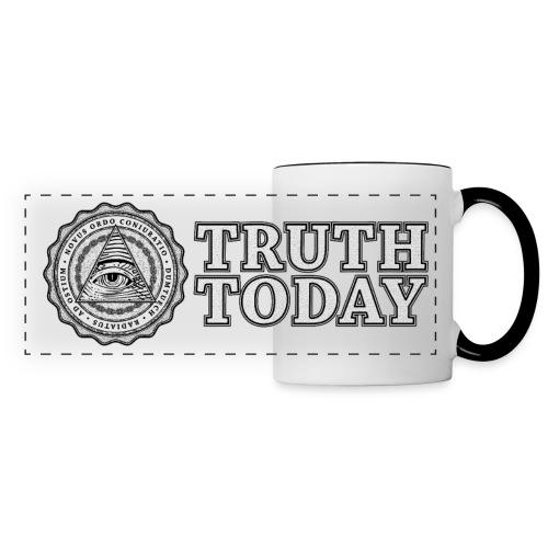 Tasse mit breitem Schriftzug - Panoramatasse