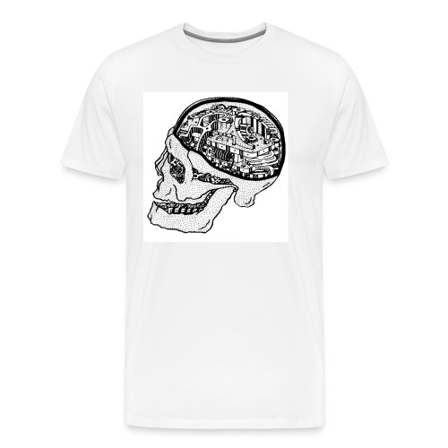 MECHANICAL SKULL - Men's Premium T-Shirt
