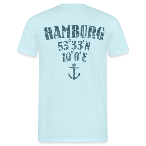 Hamburg Koordinaten Anker (Vintage Blau) T-Shirt - Männer T-Shirt