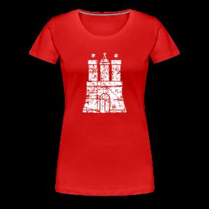 Hamburger Wappen (Vintage) Hamburg S-3XL T-Shirt - Frauen Premium T-Shirt