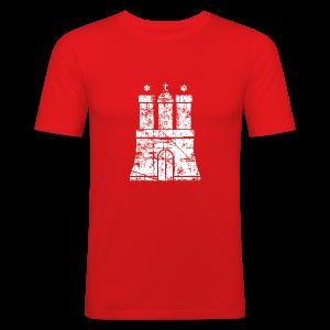 Hamburger Wappen (Vintage) Hamburg Slim Fit T-Shirt - Männer Slim Fit T-Shirt