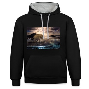 Set adrift on memory bliss - Contrast Colour Hoodie