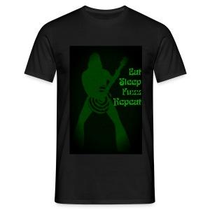 Eat Sleep Fuzz Repeat - Mannen T-shirt