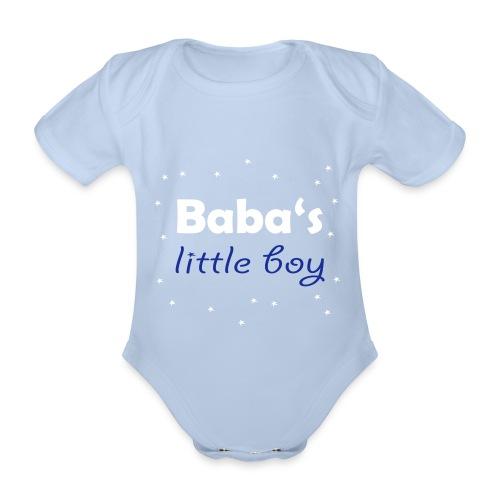 Baba's litte boy Babybody - Baby Bio-Kurzarm-Body
