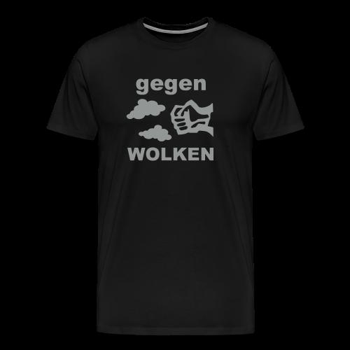 Gegen Wolken! Grau - Männer - Männer Premium T-Shirt