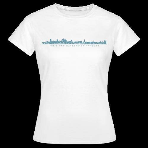 Freie und Hansestadt Hamburg Skyline EP (Blau) T-Shirt - Frauen T-Shirt