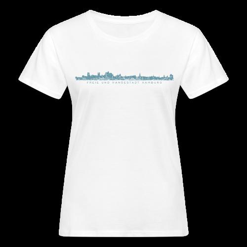 Freie und Hansestadt Hamburg Skyline EP (Blau) Bio T-Shirt - Frauen Bio-T-Shirt